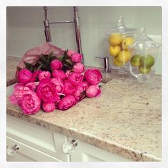 dariapogo's photo on Instagram I just can't get enough.... #freshCut #peonies #sopretty #fab #kitchenSinkFullOfFlowers