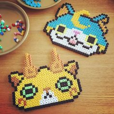 Yo-Kai Watch perler beads by  byusagi_works