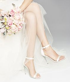 New! Betsey Johnson's bridal shoe line 'Something Blue'. We love the light blue detail on the sole!