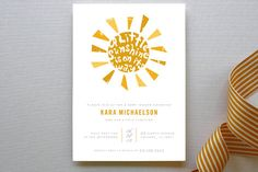 Little Sunshine Baby Shower Invitations by lehan paper design at minted.com