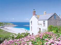 Carn Towan Cottages - Bishop Rock Sennen, Cornwall, England ~ Just imagine yourself there with someone you love deeply and there are no phones, no telly, just you. Cornwall England, Devon And Cornwall, Yorkshire England, Yorkshire Dales, Cornwall Coast, English Country Cottages, English Countryside, The Places Youll Go, Places To Visit