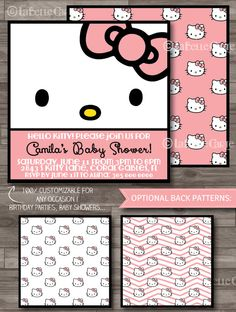 Hello Kitty Online Invitations Pinterest Themed parties Hello