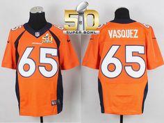 repjerseys.ru Men Denver Broncos #65 Louis Vasquez Orange Team Color Super Bowl 50 Elite