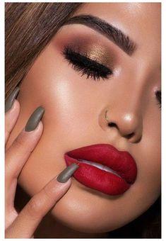 Red Lip Makeup, Fall Makeup, Smokey Eye Makeup, Makeup For Brown Eyes, Buy Makeup, Winter Makeup, Contour Makeup, Dress Makeup, Eyeshadow Makeup