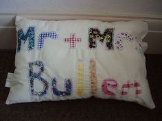Made to order  wedding or anniversary cushions  £8.50