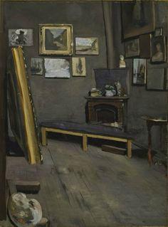 Frédéric Bazille (1841-1870), L'Atelier de la rue Visconti, 1867. Huile sur toile, 64 x 49 cm. Richmond, Virginia Museum of Fine Arts. Photo : Virginia Museum of Fine Arts
