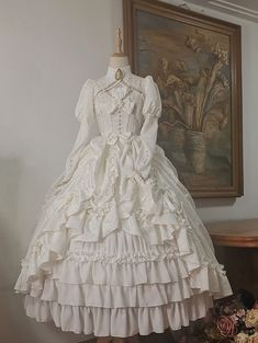 (Special Dress Length) Henrietta -Britain's Moonlight- Vintage Classic Lolita OP Dress Source by DoktorGiftig Dresses Old Fashion Dresses, Old Dresses, Pretty Dresses, Vintage Dresses, Beautiful Dresses, Vintage Outfits, Maxi Dresses, 1800s Dresses, Linen Dresses