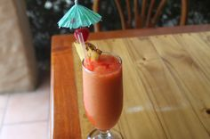 Mixed fruit smoothie Hotel Costa Coral Restaurant, Tambor, Costa Rica #fun #vacation #family #food #foodie