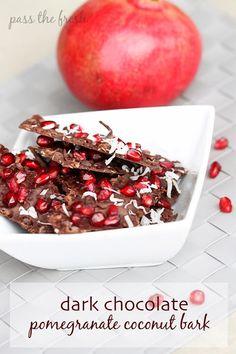 Pass the Fresh: Dark Chocolate Pomegranate Coconut Bark