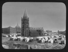 Pretoria, 1899. Church Square. - Atom site for DRISA Latitude Longitude, Pretoria, Notre Dame, Taj Mahal, City, Building, Buildings, Cities, Construction