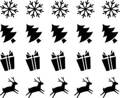 Craft Lot 20 Icons Colors Vinyl Stickers Christmas Tree Gift Deer & snowflake