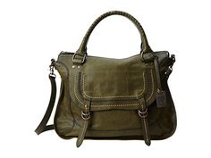 Frye Anna Satchel Dark Brown Hammered Full Grain - Zappos.com Free Shipping BOTH Ways