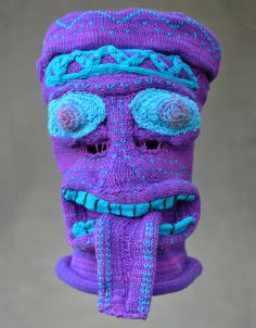knitted mask by Tracy Widdess