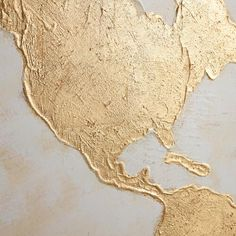 Diy world map wall art that is easy to make and unique pinterest gilded world map wall art world market gumiabroncs Choice Image