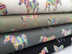 Zebra cotton canvas fabric - stripey rainbow animal - choice of colours in Crafts, Fabric Canvas Fabric, Cotton Canvas, Gift Wrapping, Textiles, Rainbow, Colours, Crafts, Animals, Ebay