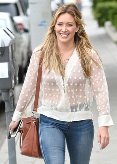 What's not to love about Hilary Duff 's Proenza Schouler Bucket Bag