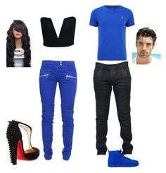 """""""Matching day"""" by french-fry-lioness on Polyvore featuring Balmain and Christian Louboutin"""