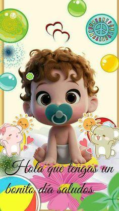 ♡¡Hola! Que tengan un bonito día. ¡Saludos!♡ Hello In Spanish, Morning Love Quotes, Baby Memes, Spiritual Messages, Pin On, Beautiful Gif, Good Morning Good Night, Happy Day, Sweet Dreams
