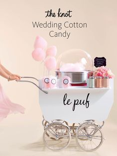 Genius ways to serve cotton candy at your wedding plus more trending wedding style ideas! Genius ways to serve cotton candy at your wedding plus more trending wedding style ideas! Cotton Candy Wedding, Wedding Candy, Cotton Candy Party, Cinderella Wedding, Mermaid Wedding, Gelato, Bolo Chanel, Candy Stand, Ice Cream Cart