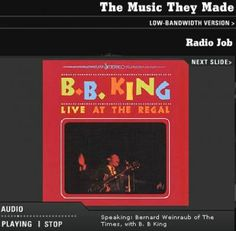 THE MUSIC THEY MADE - B.B. KING