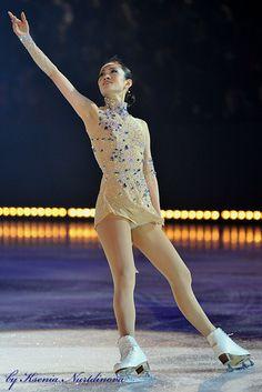 Shizuka Arakawa  Gold/ natural hued Figure Skating / Ice Skating dress inspiration for Sk8 Gr8 Designs