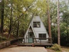 :: a frame cabin, a frame house, tiny house living, tiny house Tiny House Cabin, Tiny House Living, Cabin Homes, Tiny Homes, Cabins In The Woods, House In The Woods, Glamping, Cabins And Cottages, Small Cabins