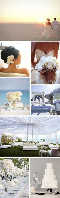 All White Beach Wedding... Wedding ideas for brides, grooms, parents & planners ... https://itunes.apple.com/us/app/the-gold-wedding-planner/id498112599?ls=1=8 … plus how to organise an entire wedding, without overspending ♥ The Gold Wedding Planner iPhone App ♥