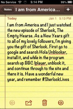 Watch Sherlock Now!!! >> i live in Aus and couldnt wait! Hola Unblocker saved my sanity. (Chrome or Firefox - I tried it on my android and didn't work with BBC Iplayer...best on pc/laptop)