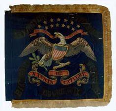11th Kansas flag carried in battle against Price's raid, Civil War, 1864
