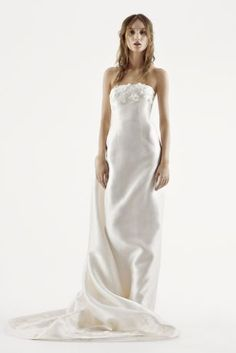 Spectacular White by Vera Wang Strapless Mikado Wedding Dress Style VW