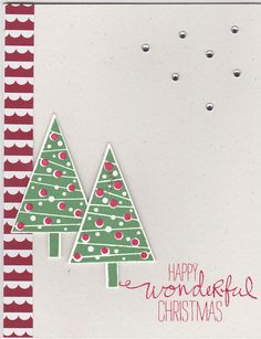Festival of Trees Stampin Up Stamp