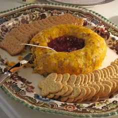I mold this cheese in a round ring and fill the center with strawberry preserves.  The sharp tangy flavor of the cheese with the sweet preserves in wonderful when spread on a cracker.