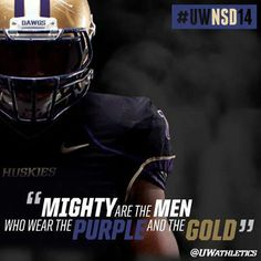 Washington Huskies Football - Nice Signing Day  graphic highlighting a quote