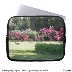 Lovely Spring Day In The Park Laptop Computer Sleeves