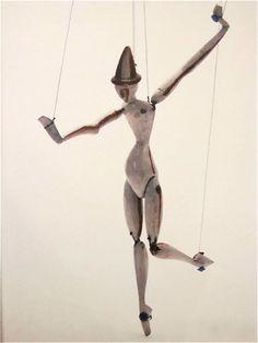 "from mondo-blogo.blogspot.com - An avant-garde toy by Otto Morach ""La boite a joujoux: Harlequin"" 1918"