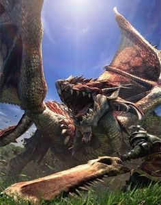 Rathalos- Monster Hunter Cover Art