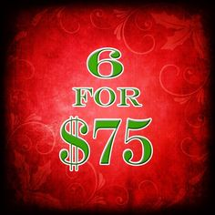 6 for 75 by wiggleperfume on Etsy, $75.00