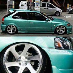 Up close to bae 1999 Honda Civic, Honda Civic Coupe, Honda Civic Type R, Honda Civic Hatchback, Honda Crx, Slammed Cars, Jdm Cars, Modified Cars, Custom Cars