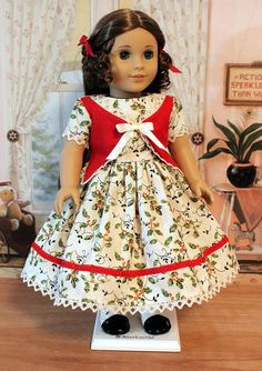 1850s Christmas Dress for Marie Grace or Cecile by BabiesArtUs, $65.00