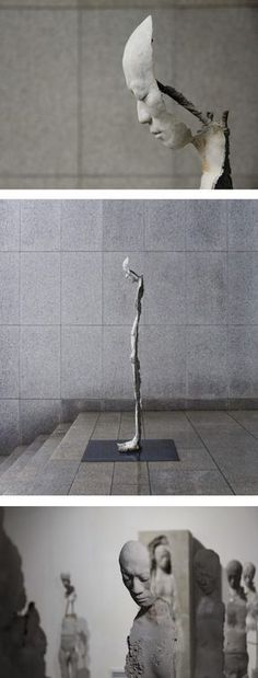 South Korean artist Park Ki Pyung creates striking life-sized sculptures that ap. - South Korean artist Park Ki Pyung creates striking life-sized sculptures that appear emotionally ho - Sculptures Céramiques, Sculpture Art, Human Sculpture, Sculpture Ideas, Modern Sculpture, Illusion Kunst, Korean Artist, Surreal Art, Installation Art