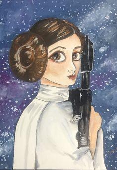 Princesa Leia. Mi versión. #Ilustración #StarsWars #Leia Princesa Leia, Pocahontas, Disney Characters, Fictional Characters, Disney Princess, Anime, Art, Impressionism, Art Background