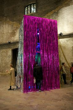 Disco art! Central Saint Martins summer show opening night