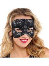 Black Lace Mask - Halloween City