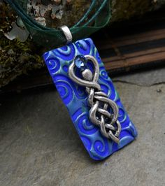 celtic knot Goddess pendantamuletamethystpagan by GypsyMoonsGems, $17.99