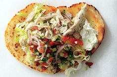 Chicken Gyros with Cucumber Salsa and Tsatsiki recipe