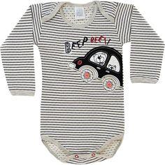 Body Bebê Menino Carro Listrado - Patimini :: 764 Kids | Roupa bebê e infantil
