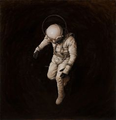 Jeremy Geddes from (Source: The Fox is Black. Space Suit of the Week). Paul Cezanne, Cyberpunk, Illustration Arte, Realistic Oil Painting, Matte Painting, Major Tom, Film D'animation, Space Travel, The Martian