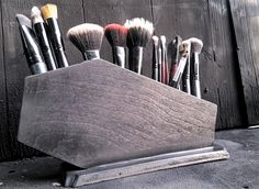 Coffin Makeup Brush Holder, Coffin, Gothic, Makeup, Makeup Organization, Brush Holder, Glam Goth, Makeup Brushes by LifeAfterDeathDesign on Etsy https://www.etsy.com/listing/400540905/coffin-makeup-brush-holder-coffin-gothic