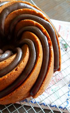 Peanut Bundt-er Cake with Peanut Butter Fudge Frosting