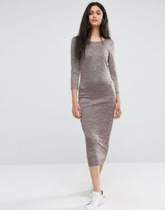 Only Grey Marl Maxi Dress